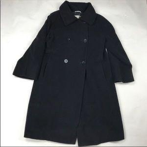 Max Mara Wool Black Trench Coat 52